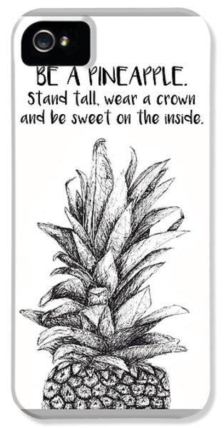 Pineapple IPhone 5s Case by Nancy Ingersoll