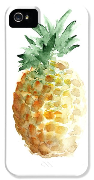 Pineapple Watercolor Minimalist Painting IPhone 5s Case by Joanna Szmerdt