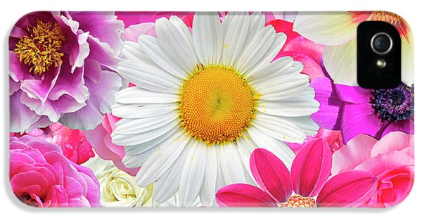 Pink Flowers  IPhone 5s Case by Gloria Sanchez