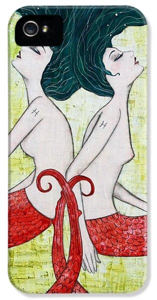 Pisces Mermaids IPhone 5s Case by Natalie Briney