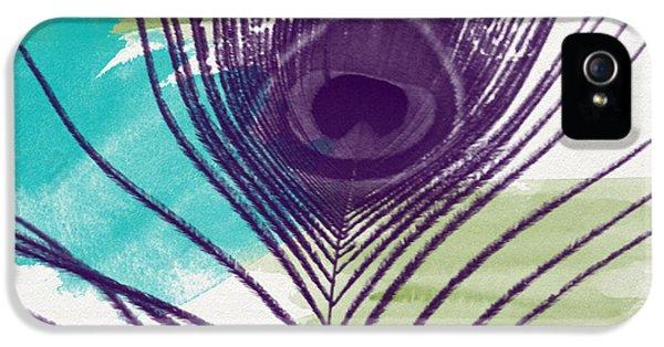 Peacock iPhone 5s Case - Plumage 2-art By Linda Woods by Linda Woods