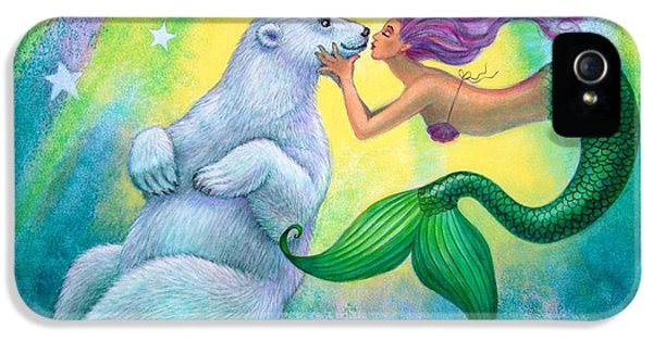 Extinct And Mythical iPhone 5s Case - Polar Bear Kiss by Sue Halstenberg