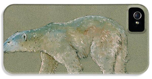 Polar Bear iPhone 5s Case - Polar Bear Original Watercolor Painting Art by Juan  Bosco