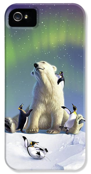 Penguin iPhone 5s Case - Polar Opposites by Jerry LoFaro