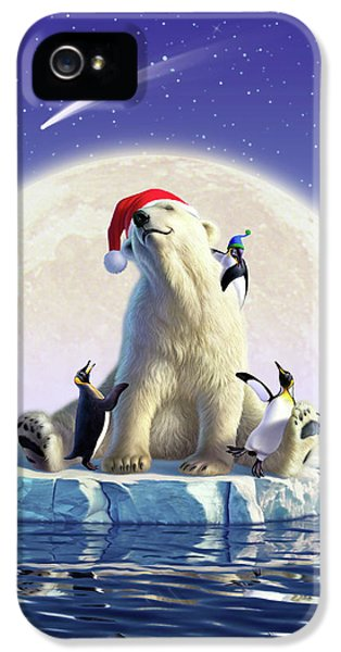 Polar Bear iPhone 5s Case - Polar Season Greetings by Jerry LoFaro