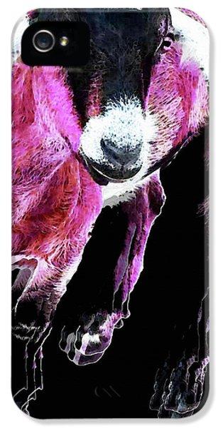 Pop Art Goat - Pink - Sharon Cummings IPhone 5s Case by Sharon Cummings