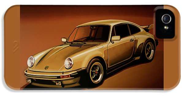 Car iPhone 5s Case - Porsche 911 Turbo 1976 Painting by Paul Meijering