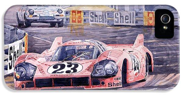 Pig iPhone 5s Case - Porsche 917-20 Pink Pig Le Mans 1971 Joest Reinhold by Yuriy Shevchuk