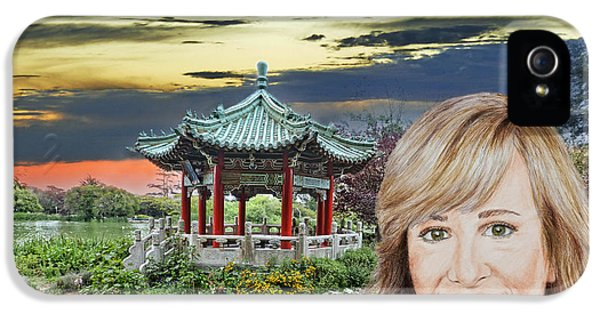 Portrait Of Jamie Colby By The Pagoda In Golden Gate Park IPhone 5s Case