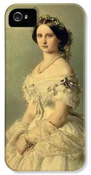 Portraits iPhone 5s Case - Portrait Of Princess Of Baden by Franz Xaver Winterhalter