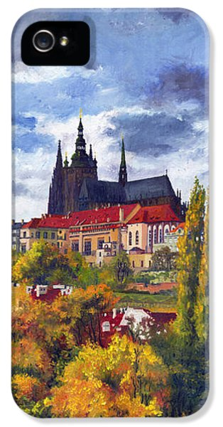 Castle iPhone 5s Case - Prague Castle With The Vltava River by Yuriy Shevchuk