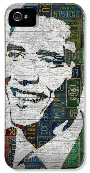 President Barack Obama Portrait United States License Plates Edition Two IPhone 5s Case by Design Turnpike