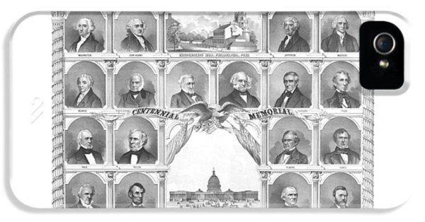 Presidents Of The United States 1776-1876 IPhone 5s Case by War Is Hell Store