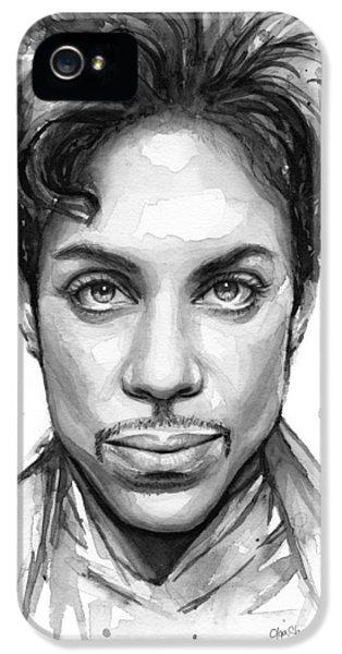Dove iPhone 5s Case - Prince Watercolor Portrait by Olga Shvartsur