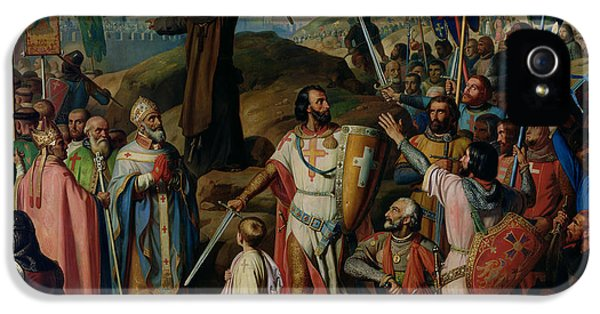 Procession Of Crusaders Around Jerusalem IPhone 5s Case by Jean Victor Schnetz