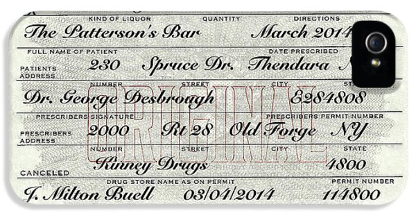 IPhone 5s Case featuring the photograph Prohibition Prescription Certificate Personalized by David Patterson