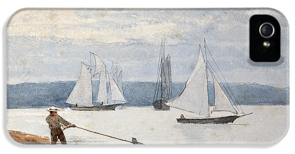 Boat iPhone 5s Case - Pulling The Dory by Winslow Homer