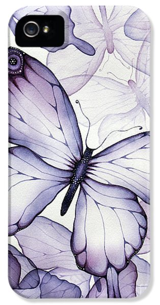 Purple Butterflies IPhone 5s Case by Christina Meeusen