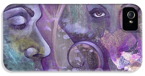 Dove iPhone 5s Case - Purple Rain by Shadia Derbyshire