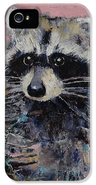 Raccoon IPhone 5s Case by Michael Creese