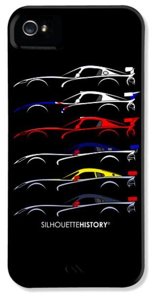 Racing Snake Silhouettehistory IPhone 5s Case by Gabor Vida