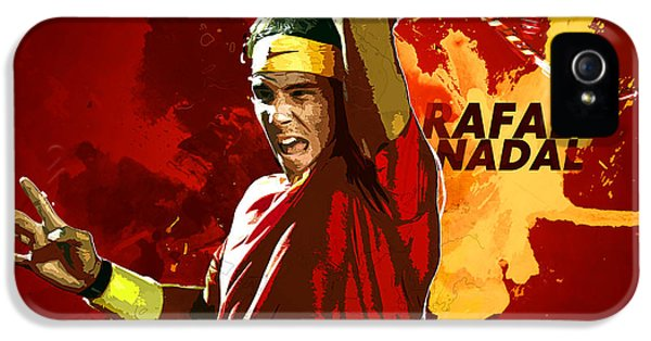 Rafael Nadal IPhone 5s Case by Semih Yurdabak