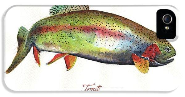Rainbow Trout IPhone 5s Case by Juan Bosco