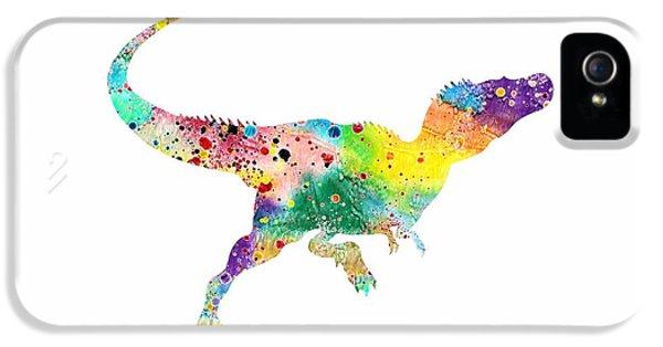 Raptor 2 Dinosaur Watercolor IPhone 5s Case by Svetla Tancheva
