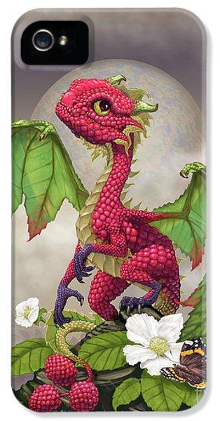 Raspberry iPhone 5s Case - Raspberry Dragon by Stanley Morrison
