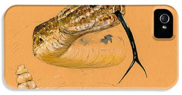 Rattlesnake Painting IPhone 5s Case