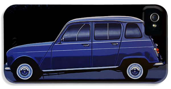 Truck iPhone 5s Case - Renault 4 1961 Painting by Paul Meijering