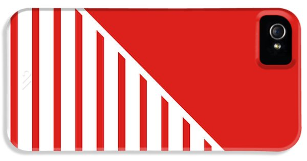 Landmarks iPhone 5s Case - Red And White Triangles by Linda Woods