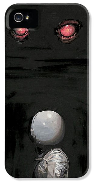 IPhone 5s Case featuring the painting Red Eyes by Scott Listfield