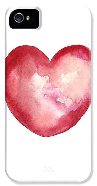 Red Heart Valentine's Day Gift IPhone 5s Case by Joanna Szmerdt