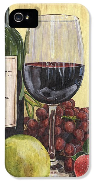Red Wine And Pear 2 IPhone 5s Case by Debbie DeWitt