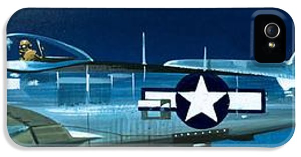 Airplane iPhone 5s Case - Republic P-47n Thunderbolt by Wilf Hardy