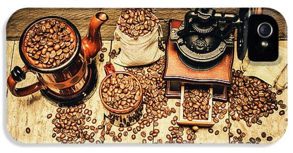 Retro Coffee Bean Mill IPhone 5s Case
