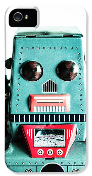 1950s iPhone 5s Case - Retro Eighties Blue Robot by Jorgo Photography - Wall Art Gallery