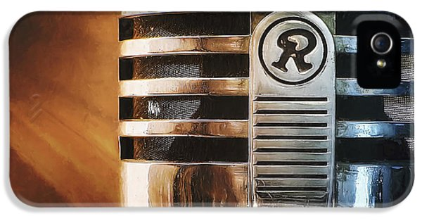Jazz iPhone 5s Case - Retro Microphone by Scott Norris