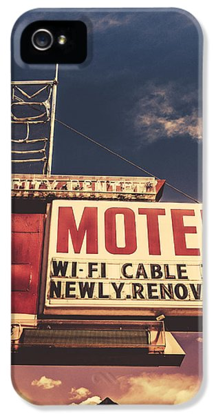 1950s iPhone 5s Case - Retro Vintage Motel Sign by Mr Doomits