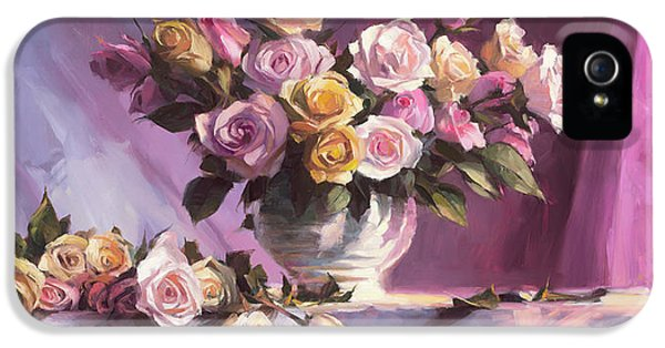 Peach iPhone 5s Case - Rhapsody Of Roses by Steve Henderson