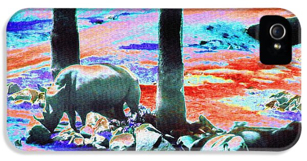 Rhinos Having A Picnic IPhone 5s Case