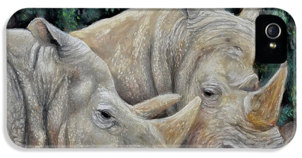 Rhinos IPhone 5s Case by Sam Davis Johnson