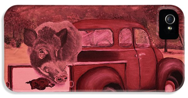 Ridin' With Razorbacks 3 IPhone 5s Case by Belinda Nagy
