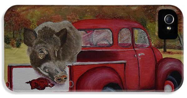 Ridin' With Razorbacks IPhone 5s Case by Belinda Nagy
