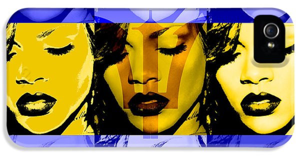 Rihanna iPhone 5s Case - Rihanna Warhol Barbados By Gbs by Anibal Diaz