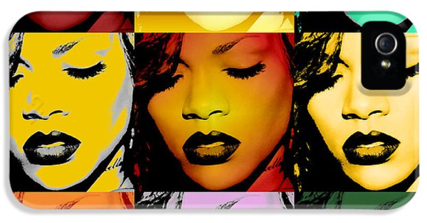 Rihanna iPhone 5s Case - Rihanna Warhol By Gbs by Anibal Diaz