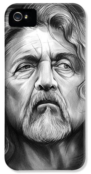 Led Zeppelin iPhone 5s Case - Robert Plant by Greg Joens