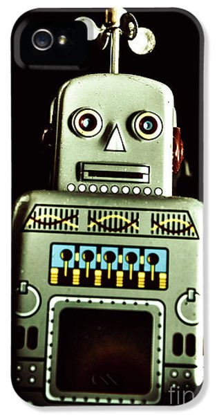 1950s iPhone 5s Case - Robotic Spaceman by Jorgo Photography - Wall Art Gallery