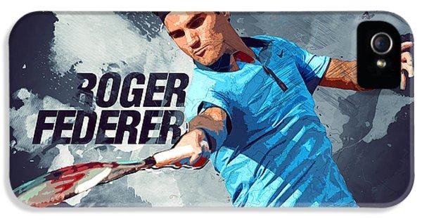 Roger Federer IPhone 5s Case by Semih Yurdabak